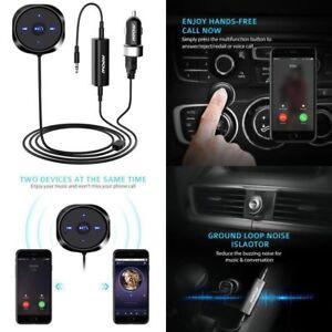 Wireless Bluetooth 4.0 Music Receiver 3.5mm Adapter Handsfree Car AUX Speaker CS