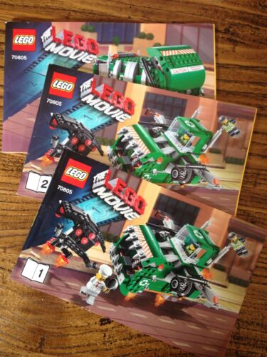 Lego Movie 70805 Trash Chomper INSTRUCTION BOOK 1, 2 & 3 ONLY No Lego bricks