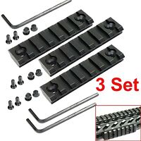3pcs Keymod 7 Slot Picatinny / Weaver Rail Haindgaurd 3 Inch Section Aluminum