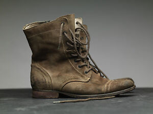 All-Saints-Military-Boots-us8-Eu41-Distressed-Tan-Leather-Suede-Montgomery-rf6