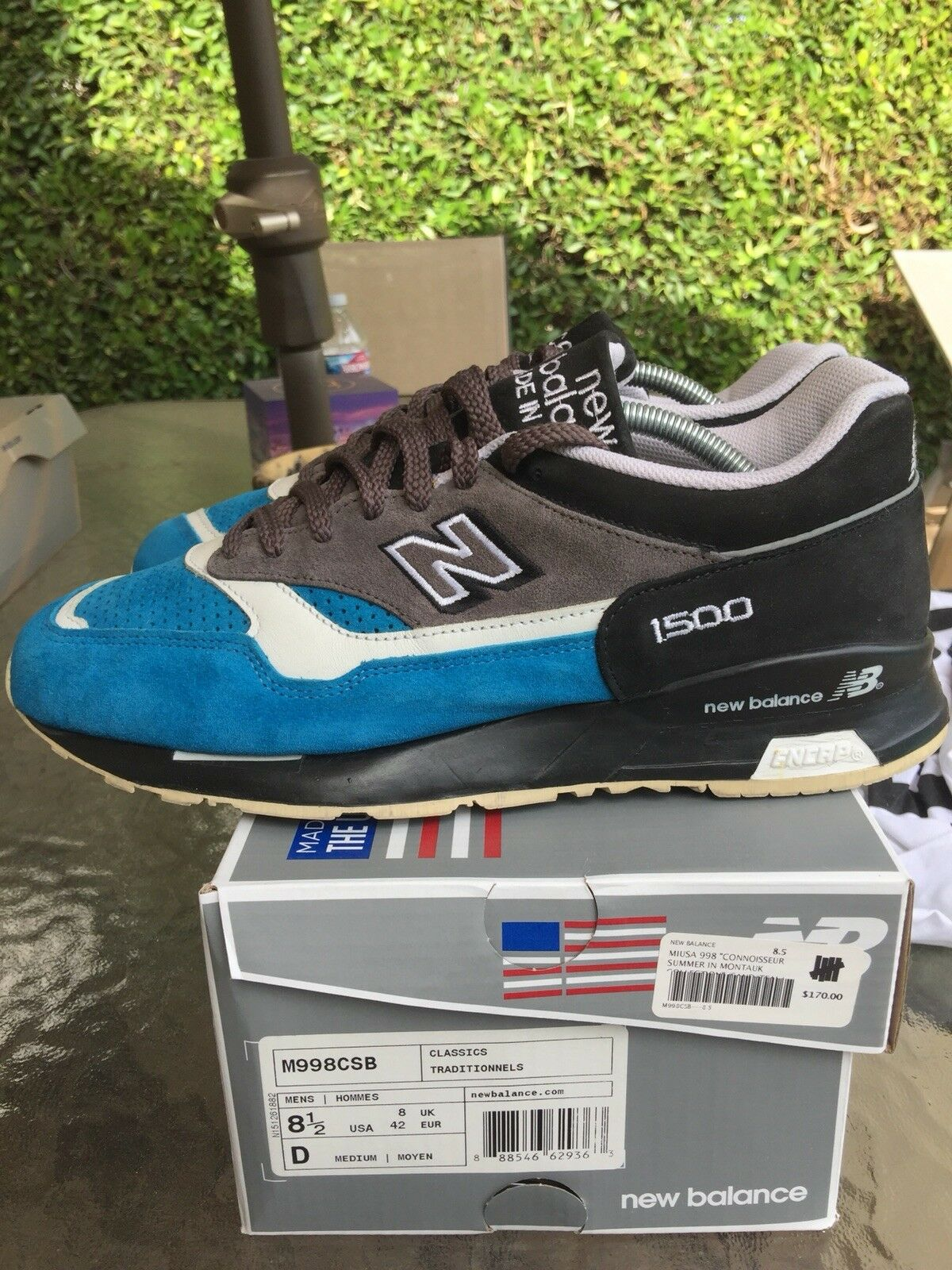 New Balance 1500 WBB Provider Sz 9 US Made In England bluee Suede Rare