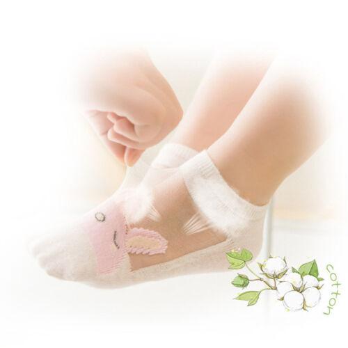 5 Pairs Baby Boy Girl Cartoon Cotton Ankles Socks Newborn Infant Toddler Soft