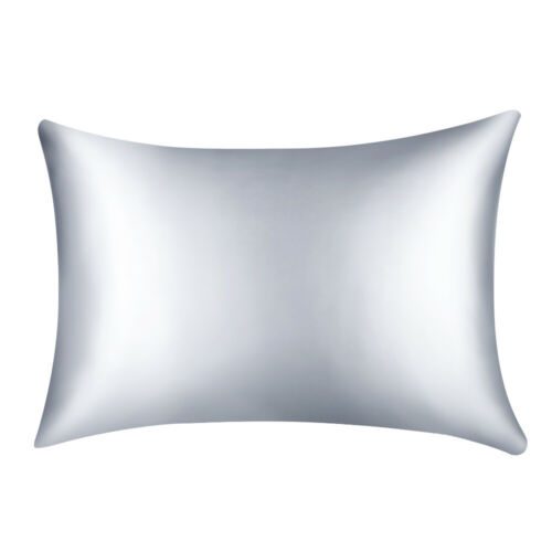 US STO Solid Soft Faux Silk Pillow Case Cushion Cover Pillowcase Home Bed Decor