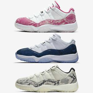 Nike-Air-Jordan-11-Retro-Low-XI-Navy-Pink-Light-Bone-Snakeskin-Sneakers-Pick-1