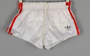 Pantaloni corti Adidas Shiny Nylon sportivi Taglia Pantaloncini S 3 bianchi 1189 vintage TgtqIw47