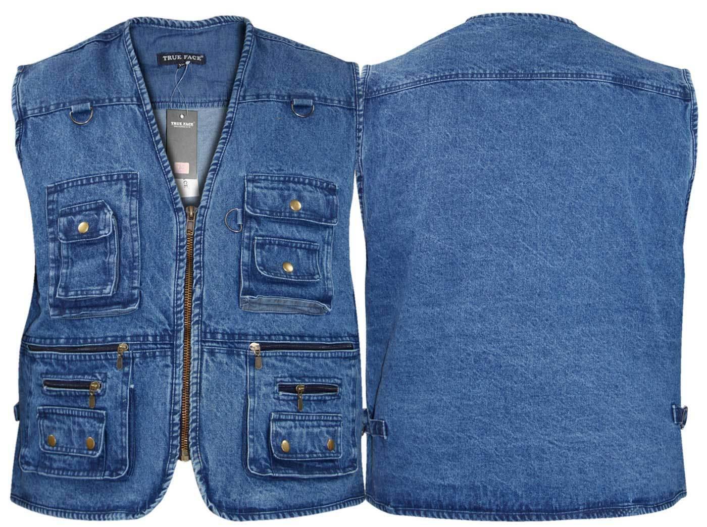mens denim body warmer waistcoat safari gilet jacket for. Black Bedroom Furniture Sets. Home Design Ideas