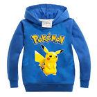 Pokemon Go Kids Boys Girls Hoodie Pikachu Sweatshirt Costume T-shirt Jumper Tops