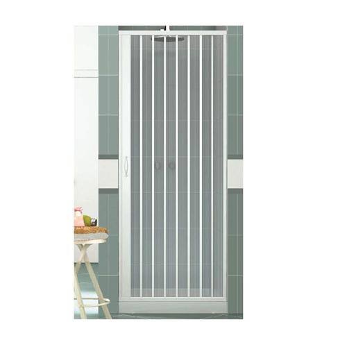 Cabine de douche Vergine 120 cm en PVC avec ouverture latérale à soufflet