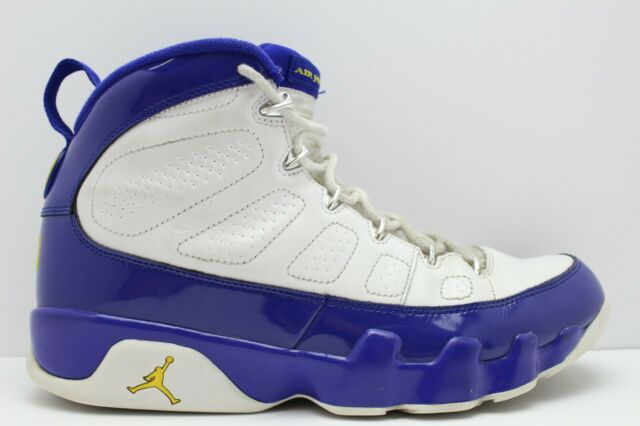 new arrival 230df 73e3a NIKE AIR JORDAN 9 RETRO LAKERS KOBE BRYANT 302370-121 WHITE YELLOW PURPLE  10.5
