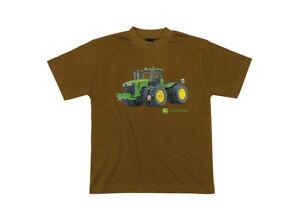 Genuine-John-Deere-Childrens-Brown-T-Shirt-With-Tractor-Kids-Shirt