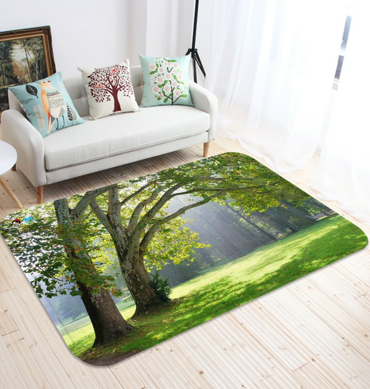 3D Bush Grass Nature49 Non Slip Rug Mat Room Mat Quality Elegant Photo Carpet AU