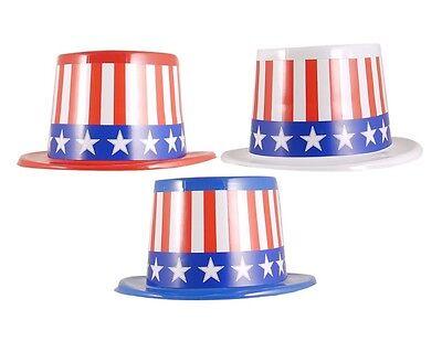 USA lo Zio Sam cappello Giorno dell/'indipendenza americana 3 Assortiti Design h23 082 BULK