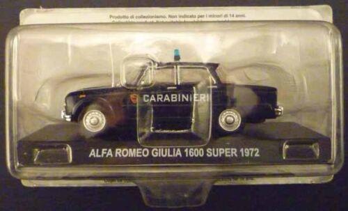 CARABINIERI Alfa Romeo GIULIA 1600 Super 1//43 Centauria die cast model sealed