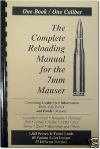 Details about 7mm Mauser Reloading Manual LOADBOOK USA !! 7 x 57 NEW