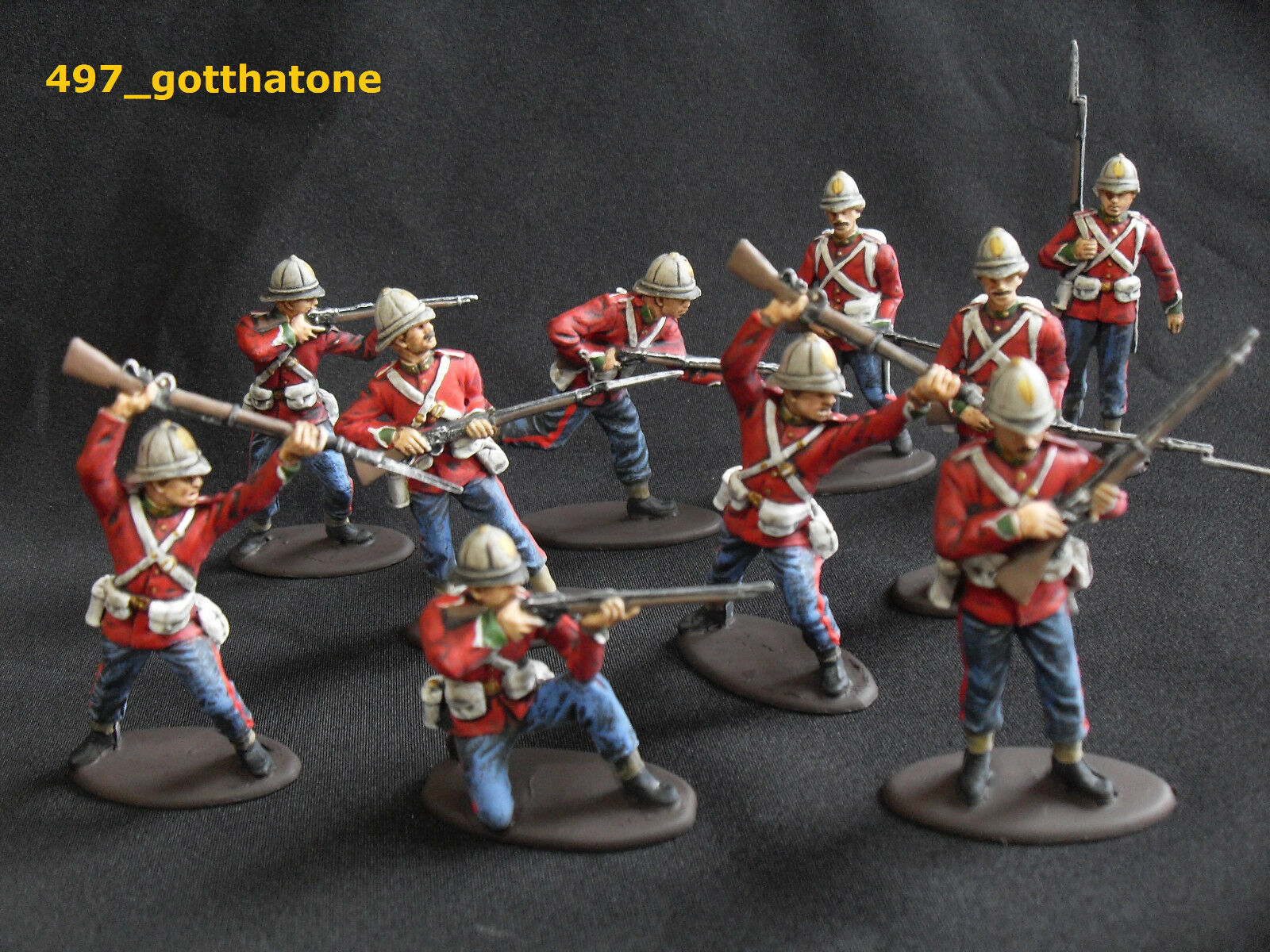 A.I.P  A Call to arms 1 32 painted British infantry zulu war era. 54 mm