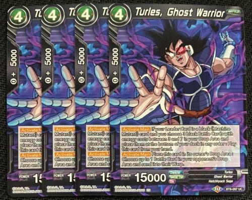 Ghost Warrior BT8-097 UC Dragon Ball Super TCG NEAR MINT 4x Turles