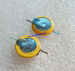 2-PCS-x-New-3V-Tabbed-CR1220-Cell-Button-Battery-PCB-Mount-2-Solder-180-Tabs