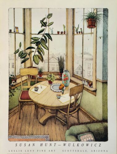 """signed or unsigned 25/""""hx18.75w Susan Hunt-Wulkowicz /""""Window Garden/"""" poster"""