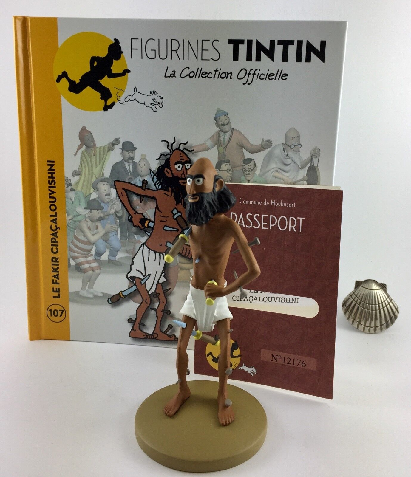 Collection officielle figurine Tintin Moulinsart 107 Fakir Cipaçalouvishni