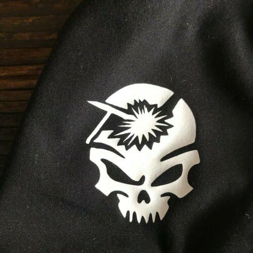 WELDING ROD SKULL *GLOW-N-DARK* Black Weld Hat Welder Hats Cap Biker Hood Helmet