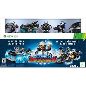 Skylanders-Superchargers-Dark-Edition-Starter-Pack-for-Xbox-360-Good-condition