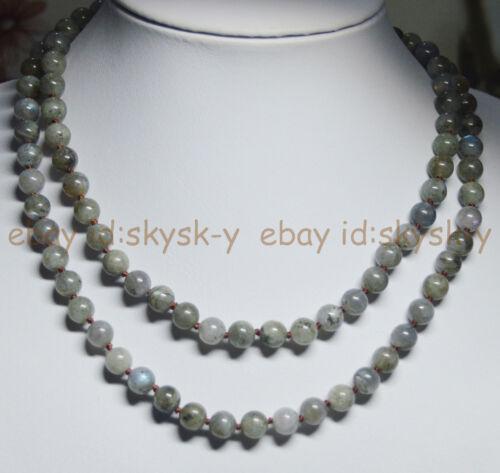 Nouveau 16-100 in Labradorite 8 mm véritable naturelle pierres précieuses Perles rondes Colliers AA
