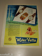 *52=WYLER VETTA OROLOGIO WATCH=1958=PUBBLICITA'=ADVERTISING=PUBLICIDAD=WERBUNG=