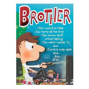 Image Is Loading Brother Hallmark Humour Funny Birthday Card 039 You