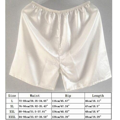 Mens Sleepwear Satin Silk Underwear Boxers Shorts Pants Pyjamas Nightwear Hot