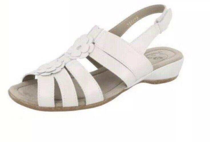 DHW DB Easy B damen Kirkton Pearlised Weiß Sandals Eur 41 UK 2V Fit