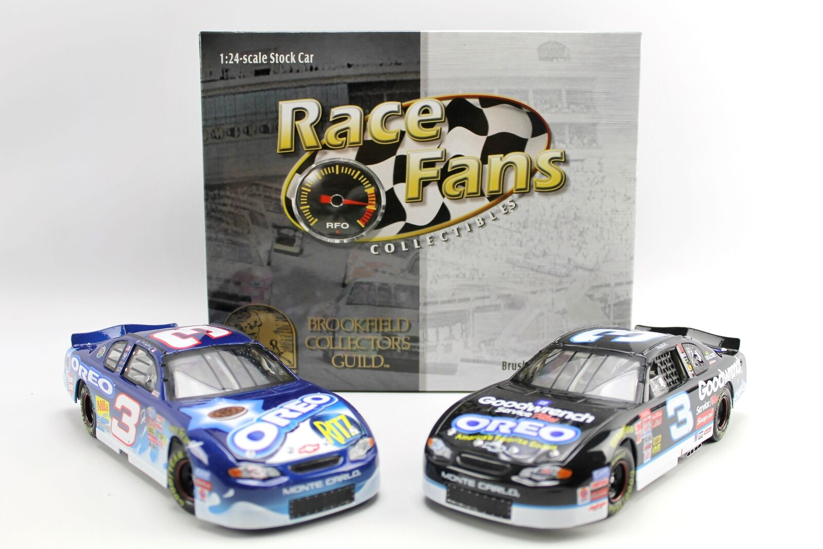 Earnhardt Sr Jr GM Oreo Ritz 2002 Monte Carl Brookfield Race Fan Diecast 1 24