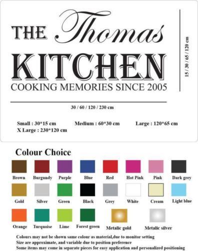 lettres BN des mots Stickers muraux Cuisine Personnalisé Autocollant Mural Art Nom citations