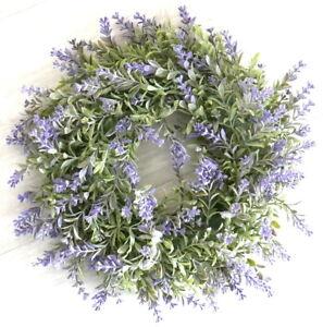 Tuerkranz-Lavendel-lila-32cm-Sommerkranz-Tischkranz-Lavendelkranz-Kranz-Lavendel
