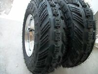 (2) Tires Wheels Rims Kit 6 Ply Front 21x7-10 Yamaha Blaster 200 Tusk Voltage