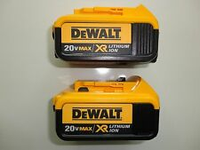 DeWalt 20V 20 Volt Max XR 4.0 Amp Lithium Ion Battery Packs New 2 Pack DCB204-2