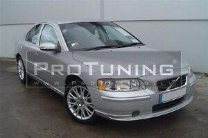 Para-Volvo-S60-R-Parachoques-Delantero-Aleron-Labio-Estilo-Falda-de-barbilla-de-separador-de-cenefa