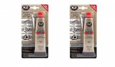 Sonstige Autopflege & Aufbereitung 350° Rot 85g Kenntnisreich 2x K2 Silikon Silikon Hochtemperatur Dichtmasse