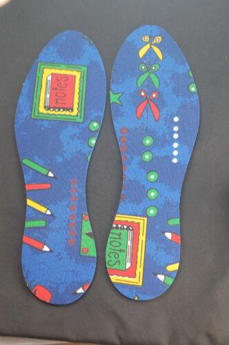 NOUVEAU Crayon Print Cut To Fit Semelles Kids Shoe Trainer