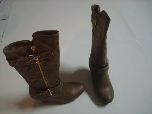 NEW KID FASHION SHOES STYLE BOOT HEEL HEIGHT 2.5 INCH COLOR BROWN HOLIDAY SALE