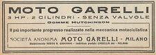 Y7857 Moto GARELLI senza Valvole - Pubblicità d'epoca - 1921 Old advertising