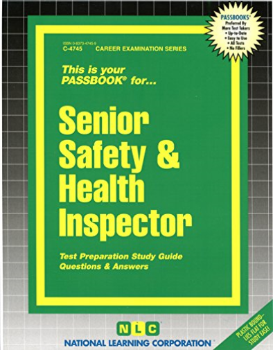 National Learning Corporation-Senior Safety & Health Inspec (US IMPORT) BOOK NEW