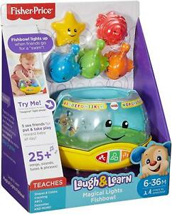 Fisher-Price-MAGICAL-LIGHTS-FISHBOWL-Songs-amp-Music-Pretend-Play-Fun-Baby-Toy