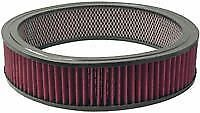 "CHROME AIR CLEANER WASHABLE RED FILTER 14/"" Edelbrock Carburetor Ford 390 HP"