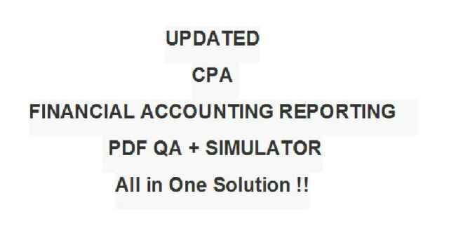 Certified Public Accountant Financial Accounting Reporting Far Test CPA  Exam Qa