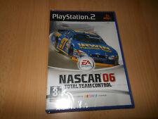 PS2 Nascar 06 Total Team Mando Pal Reino Unido, Nuevo Sony Precinto De Fábrica