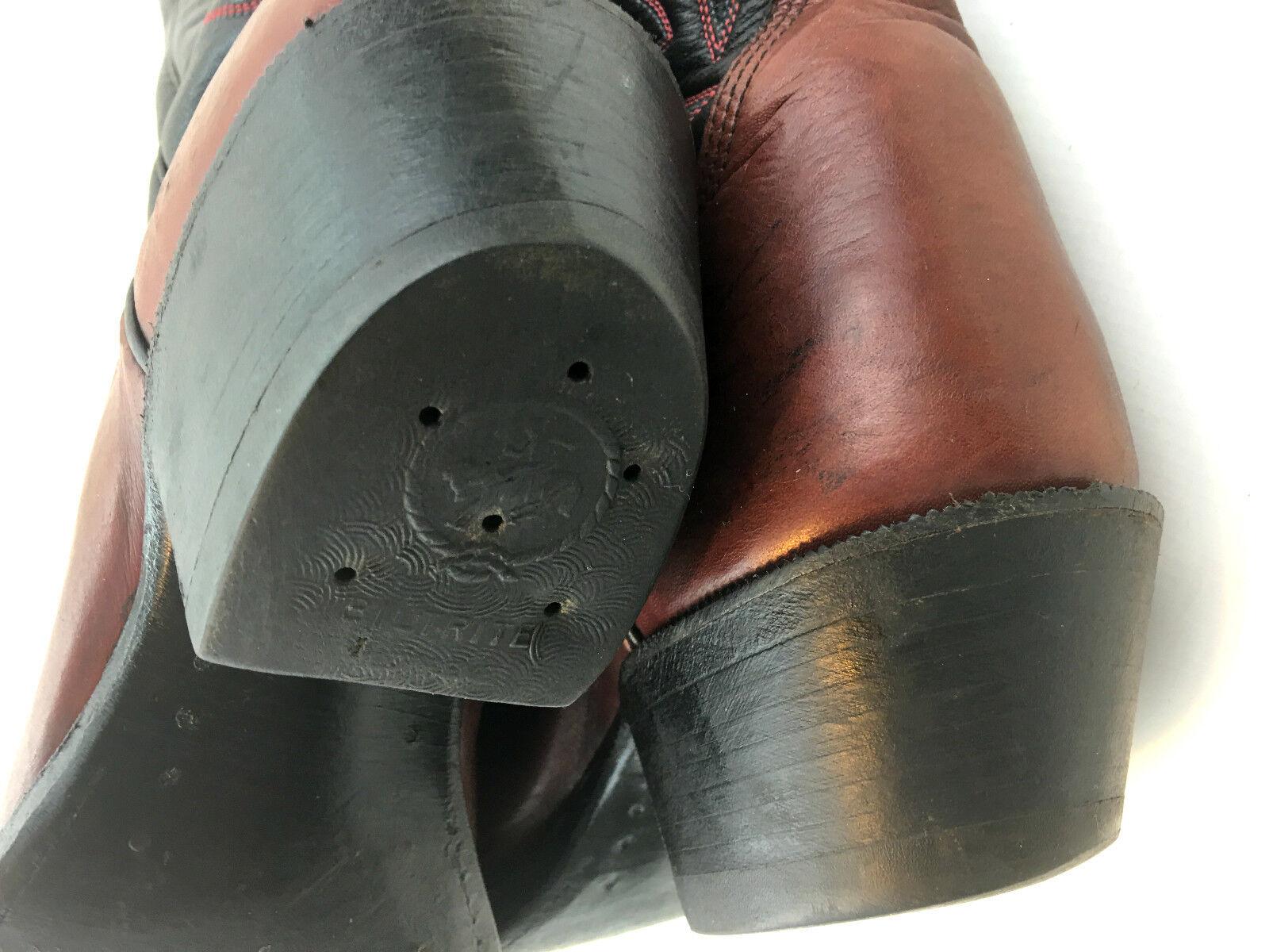 botas de vaquero botas occidental Alberta Rojo Cereza Negro botas vaquero Talla 8... 5 EE. UU. c3a259