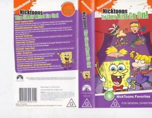NICKELODEON-NICKTOONS-THE-SHOW-MUST-GO-ON-VHS-VIDEO-PAL-MINT-SEALED