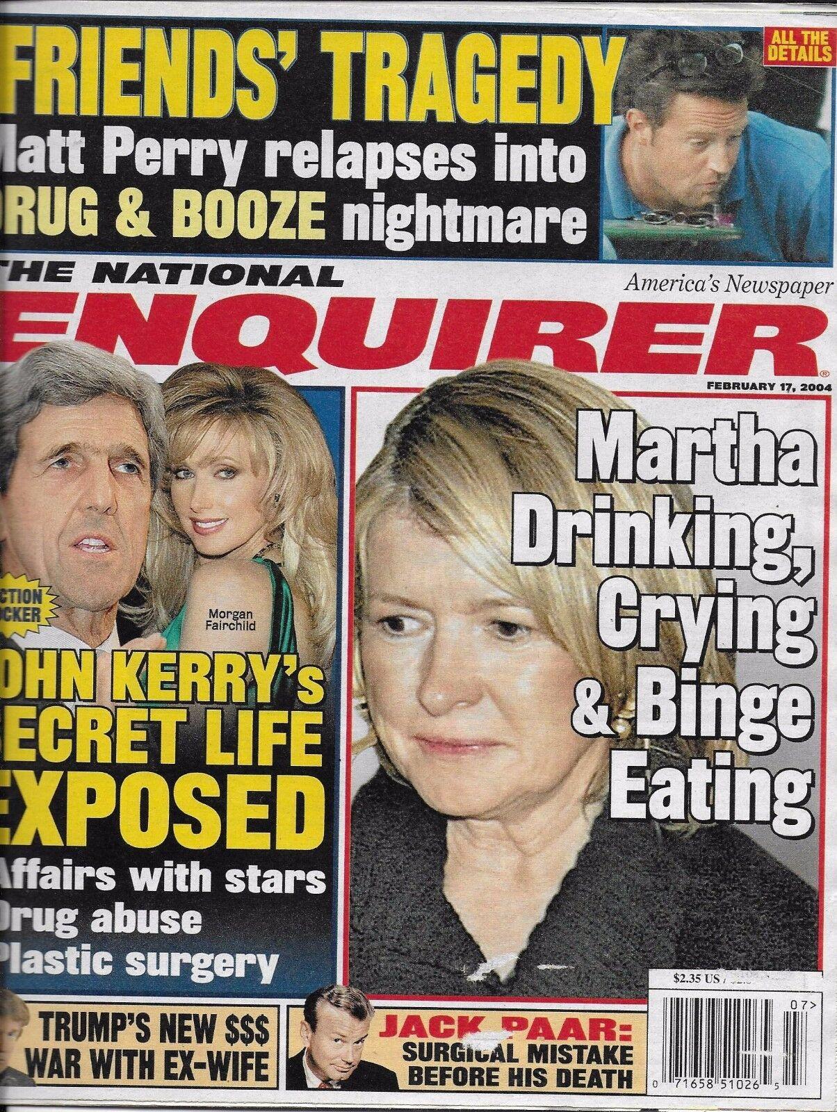 National Enquirer Magazine Martha Stewart John Kerry Donald Trump Jack Paar  2004