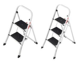 hailo k20 2 3 stufen stahl klapptritt tritt haushalt leiter klappleiter neu ebay. Black Bedroom Furniture Sets. Home Design Ideas