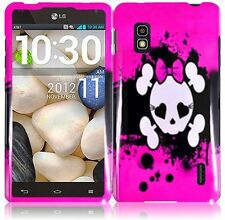 For AT&T LG Optimus G E970 HARD Case Snap On Phone Cover Pink Skull